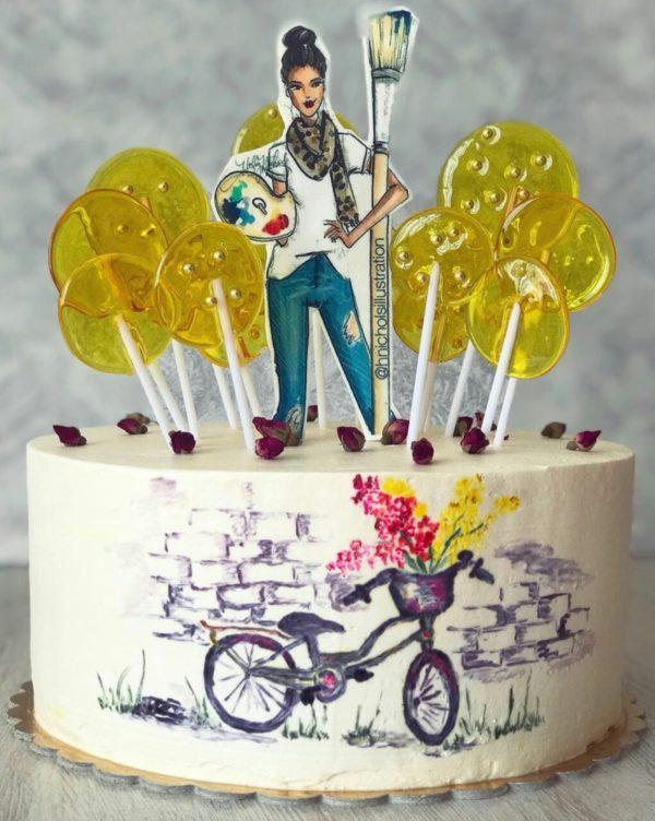 Торт Юная художница