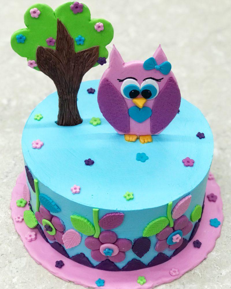 Торт Розовый совёнок