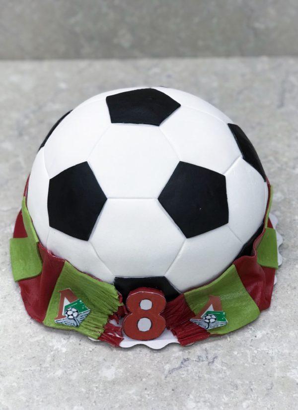 Торт 3D футбольный