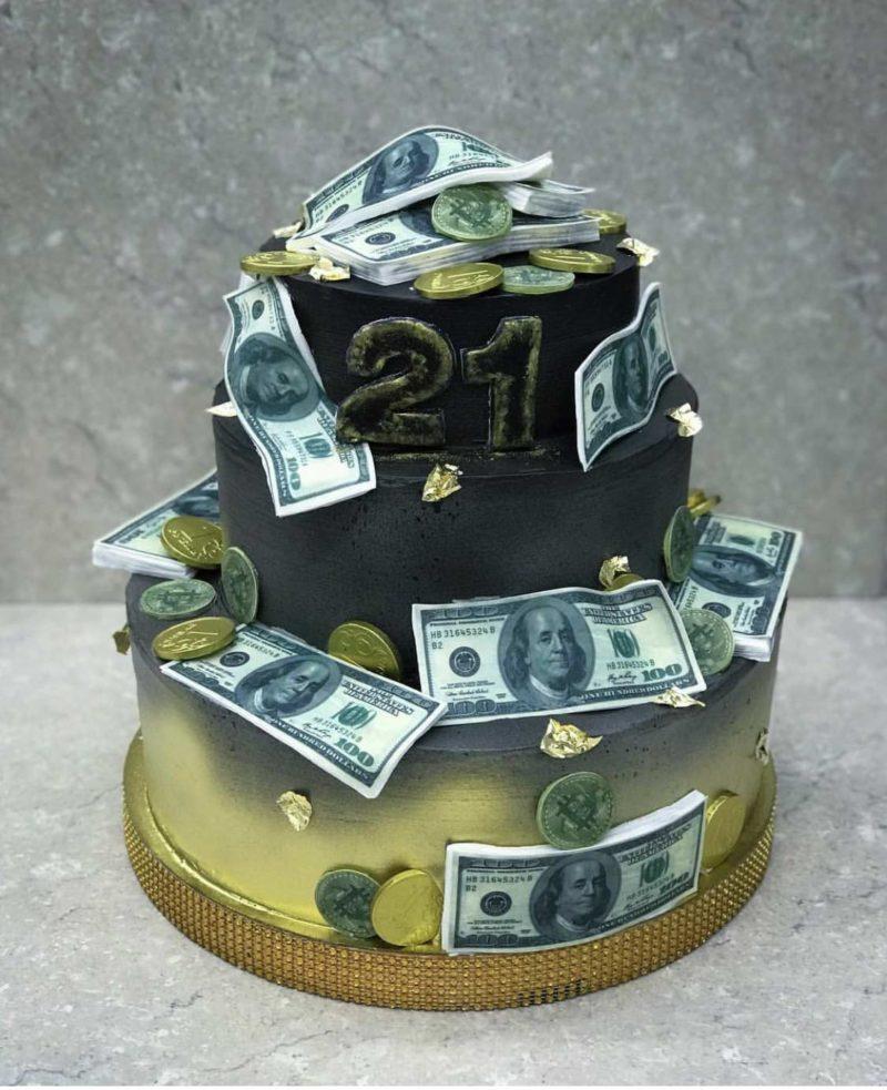 Торт Золото и доллары