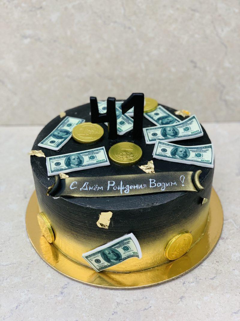Торт Доллары и золото