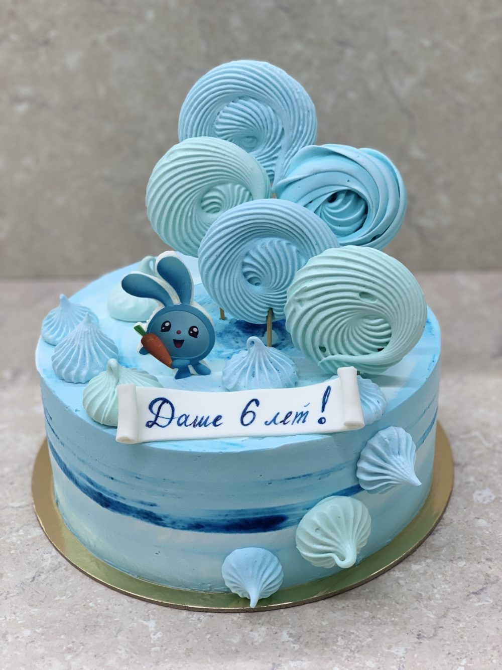 Торт Голубые безешки