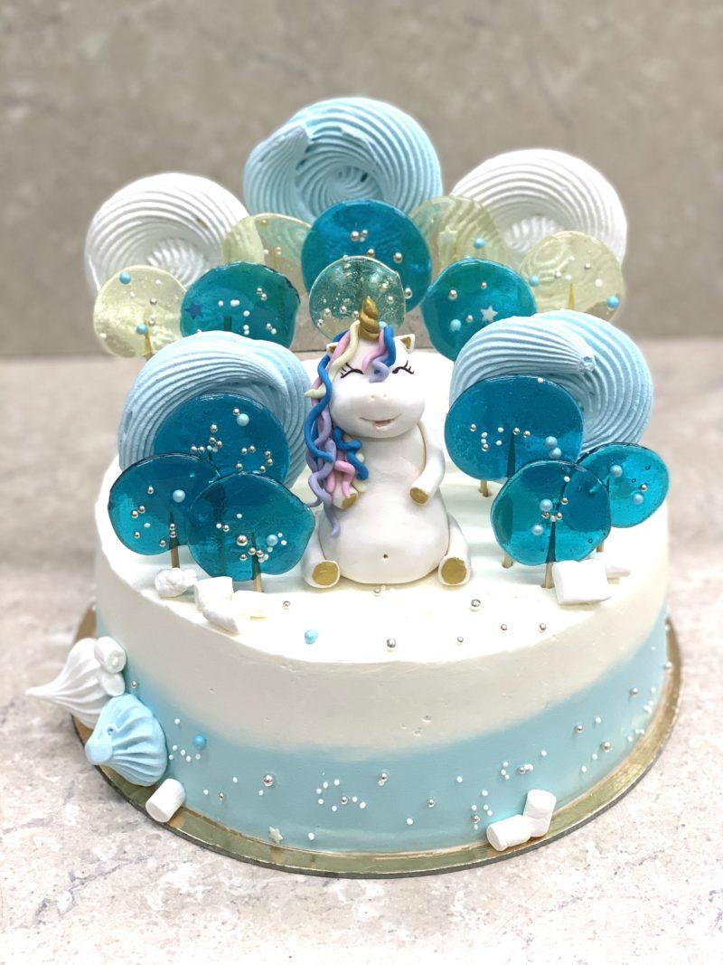 Торт Голубые карамельки